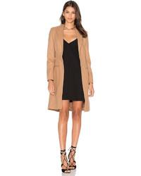 Lioness Donatella Short Winter Coat In Tan