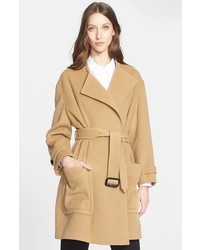 Burberry London Heronsby Wool Cashmere Wrap Coat