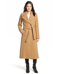 Long wool blend wrap coat medium 376909