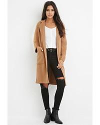 Forever 21 Longline Wool Blend Coat
