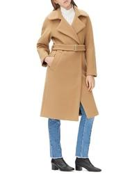 Sandro Malory Wool Blend Trench Coat