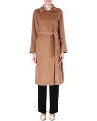 Max Mara Manuela Camel Hair Wrap Coat