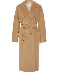Max Mara Madame 101801 Wool And Cashmere Blend Coat Camel