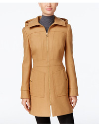 MICHAEL Michael Kors Michl Michl Kors Hooded Wool Blend Coat Only At Macys