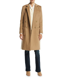 MICHAEL Michael Kors Michl Michl Kors Tailored Double Breasted Wool Blend Coat Dark Camel
