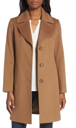 Fleurette Notch Collar Wool Walking Coat