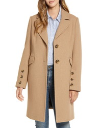 Sam Edelman Notched Collar Wool Blend Coat