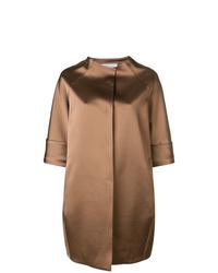 Gianluca Capannolo Oversized Cropped Sleeve Coat