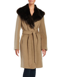 Jones New York Oversized Faux Fur Coat