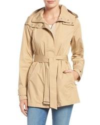 Cole Haan Packable Belted Rain Coat
