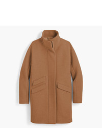 J.Crew Petite Cocoon Coat In Italian Stadium Cloth Wool