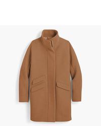 J.Crew Petite Italian Stadium Cloth Wool Cocoon Coat