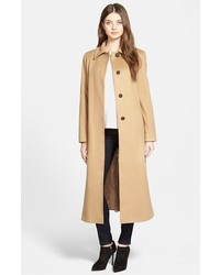 Fleurette Point Collar Long Cashmere Coat