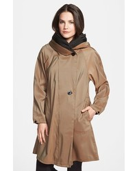 Reversible pleat hood packable travel coat medium 3753478