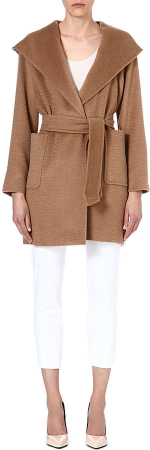 4c067c7c85419 ... Max Mara Rialto Hooded Camel Hair Coat ...