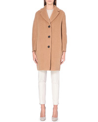 S Max Mara Single Breasted Wool Blend Coat