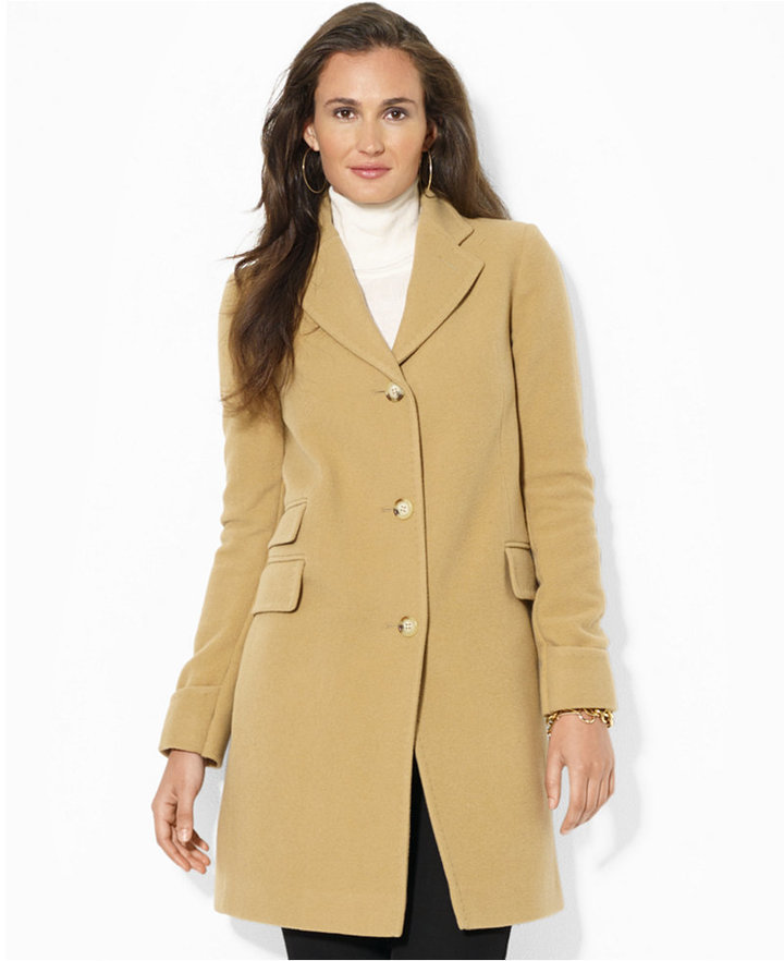 Lauren Ralph Lauren Single Breasted Wool Blend Walker Coat | Where ...