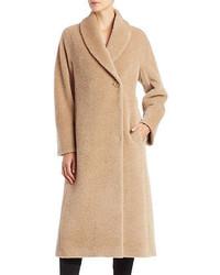 Cinzia Rocca Single Button Wool Blend Coat