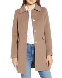 Tahari Sophie A Line Wool Blend Coat