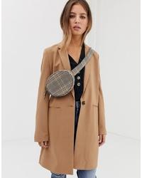 Pimkie Tailored Coat In Camel