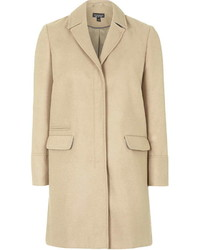Topshop Tall Camel Slim Pocket Coat