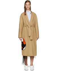 MSGM Tan Wool Cat Coat