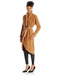 Vincetta Shawl Collar Coat S Camel