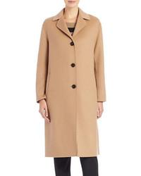 Max Mara Weekend Single Breasted Wool Blend Coat