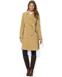 Ralph Lauren Wool Blend Belted Wrap Coat