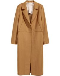 H&M Wool Blend Coat Camel Ladies