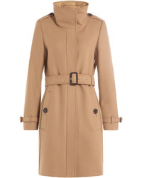 Burberry Wool Blend Coat With Cashmere