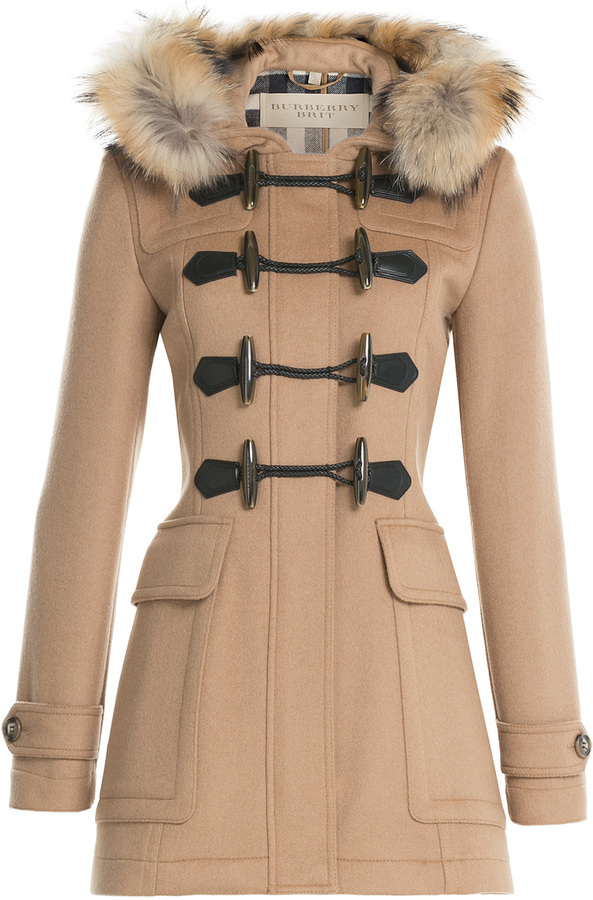 Burberry Brit Wool Duffle Coat With Fur | Where to buy & how to wear