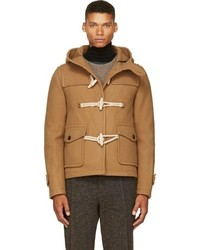 Kolor Camel Tan Wool Cashmere Duffle Coat