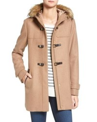 Cole Haan Signature Cole Haan Hooded Duffle Coat With Faux