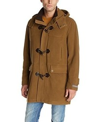 Cole Haan Italian Wool Blend Duffle Coat With Removable Hood