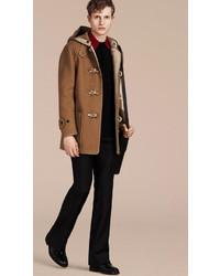 Burberry Felted Wool Blend Duffle Coat