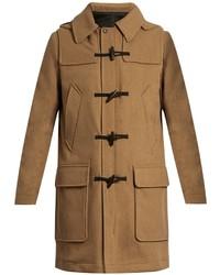 Ami Hooded Wool Blend Duffle Coat