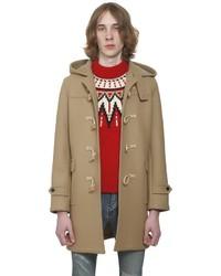 Saint Laurent Hooded Wool Felt Duffle Coat