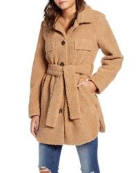 BLANKNYC Toffee Faux Shearling Coat