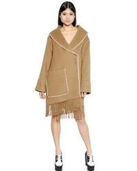 Camel Fringe Coat