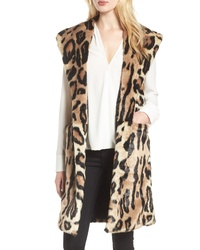 HEURUEH Faux Fur Longline Vest
