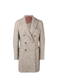 Camel Herringbone Overcoat