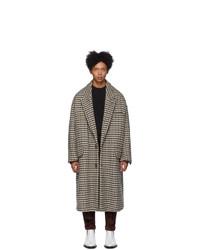 AMI Alexandre Mattiussi Beige Oversized Two Buttons Coat