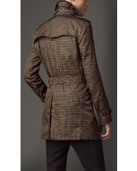 Burberry Mid Length Tweed Graphic Technical Trench Coat | Where to