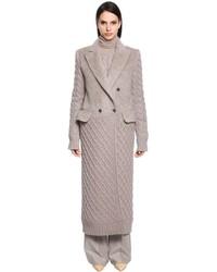 Alpaca cable knit coat medium 4417937