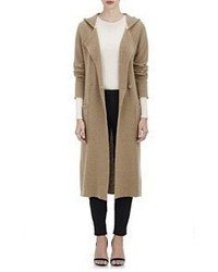 ATM Anthony Thomas Melillo Hooded Cardigan Coat Brown