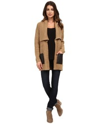 MICHAEL Michael Kors Michl Michl Kors Long Sleeve Leather Pocket Sweater Coat