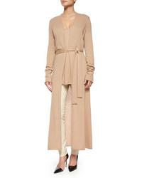 Mila cashmere silk long cardigan coat medium 385629