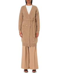 Max Mara Rosaria Belted Wool And Cashmere Blend Cardigan