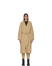 Haider Ackermann Tan Knit Cashmere Coat